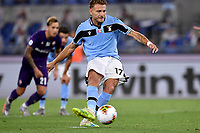 Ciro Immobile of SS Lazio scores on penalty the goal of 1-1 during the Serie A football match between SS Lazio and ACF Fiorentina at stadio Olimpico in Roma ( Italy ), June 27th, 2020. Play resumes behind closed doors following the outbreak of the coronavirus disease. Photo Antonietta Baldassarre / Insidefoto