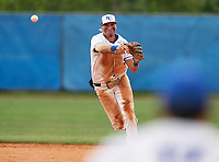 Barron Collier Cougars shortstop Reid Sondermeyer (21) during the IMG National Classic on March 29, 2021 at IMG Academy in Bradenton, Florida.  (Mike Janes/Four Seam Images)