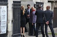 MARC LAVOINE - LES OBSEQUES DE MIREILLE DARC A PARIS, FRANCE, LE 01/09/2017.