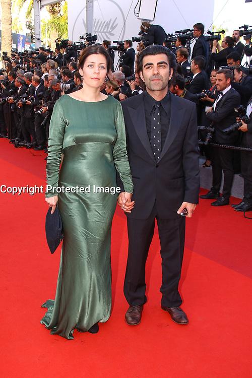 Monique Akin et Fatih Akin sur le tapis rouge pour la soirée dans le cadre de la journée anniversaire de la 70e édition du Festival du Film à Cannes, Palais des Festivals et des Congres, Cannes, Sud de la France, mardi 23 mai 2017.