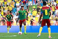 Cameroon's Adolphe Teikeu (l), Andre-Frank Zambo Anguissa (c) and Benjamin Moukandjo during international friendly match. June 13,2017.(ALTERPHOTOS/Acero) (NortePhoto.com) (NortePhoto.com)