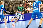 Nemanja Zelenovic (FRISCH AUF! Goeppingen #42) ; BGV Handball Cup 2020 Finaltag: TVB Stuttgart vs. FRISCH AUF Goeppingen am 13.09.2020 in Stuttgart (PORSCHE Arena), Baden-Wuerttemberg, Deutschland<br /> <br /> Foto © PIX-Sportfotos *** Foto ist honorarpflichtig! *** Auf Anfrage in hoeherer Qualitaet/Aufloesung. Belegexemplar erbeten. Veroeffentlichung ausschliesslich fuer journalistisch-publizistische Zwecke. For editorial use only.