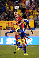 Brek Shea (11)  of the United States. The men's national team of the United States (USA) Ecuador (ECU) during an international friendly at Red Bull Arena in Harrison, NJ, on October 11, 2011.