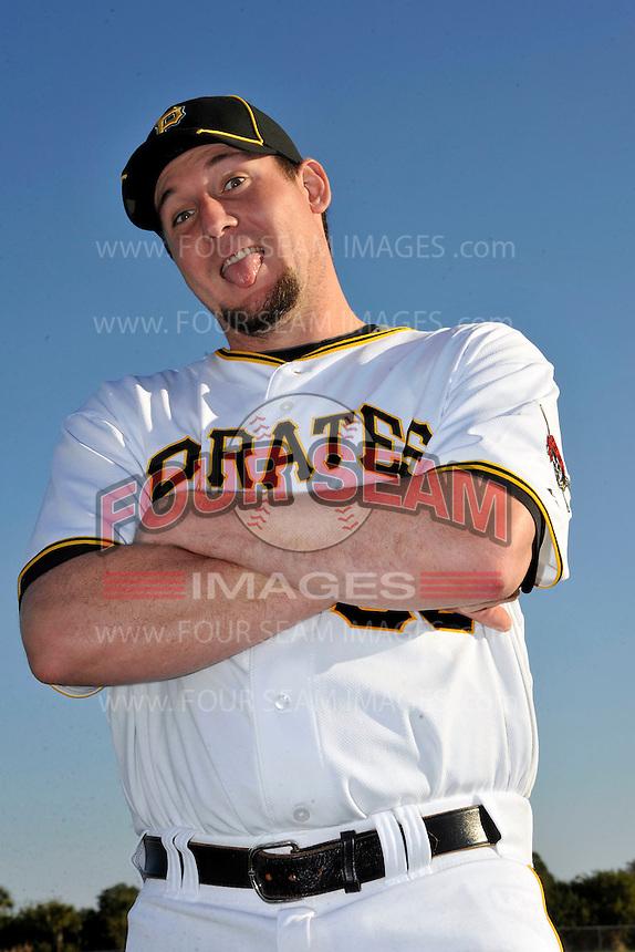 Feb 28, 2010; Bradenton, FL, USA; Pittsburgh Pirates  pitcher Joel Hanrahan (52) during  photoday at Pirate City. Mandatory Credit: Tomasso De Rosa/ Four Seam Images