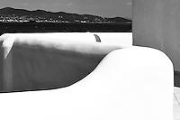 white washed retaining walls