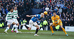 Nicky Law fails to connect with Kenny Miller's cross