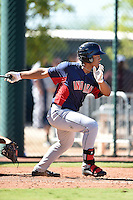 Cleveland Indians first baseman Bobby Bradley (44) during an Instructional League game against the Seattle Mariners on October 1, 2014 at Goodyear Training Complex in Goodyear, Arizona.  (Mike Janes/Four Seam Images)