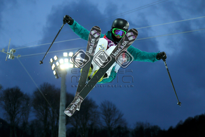 Davina Williams (AUS)<br /> Freestyle Skiing - Halfpipe finals<br /> Rosa Khutor  X-treme Park, Rosa Khutor<br /> 2014 Sochi Winter Olympics - Russia<br /> 20.02.2014 Sochi, Krasnodar Krai, Russia. <br /> © Sport the library / Yohei Osada
