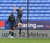Oldham Athletic's Ben Garrity celebrates scoring the opening goal <br /> <br /> Photographer Stephen White/CameraSport<br /> <br /> The EFL Sky Bet League Two - Bolton Wanderers v Oldham Athletic - Saturday 17th October 2020 - University of Bolton Stadium - Bolton<br /> <br /> World Copyright © 2020 CameraSport. All rights reserved. 43 Linden Ave. Countesthorpe. Leicester. England. LE8 5PG - Tel: +44 (0) 116 277 4147 - admin@camerasport.com - www.camerasport.com
