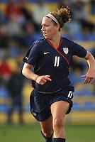 US forward Lauren Cheney in game vs Norway in 2010 Algarve Cup game in Ferreiras, Portugal.