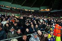 Saturday 2nd Febuaray 2014<br /> Pictured: Swansea City Fans<br /> Re: Barclays Premier League Swansea City FC  v Cardiff City FC at the Liberty Stadium, Swansea
