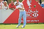 Gareth Maybin tees off on the 8th tee during Day 3 Saturday of the Abu Dhabi HSBC Golf Championship, 22nd January 2011..(Picture Eoin Clarke/www.golffile.ie)