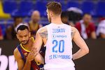 EUROLEAGUE 2020-2021. Playoffs.Game 1.<br /> FC Barcelona vs Zenit St. Petersburg: 74-76.<br /> Adam Hanga vs Andrey Zubikov.