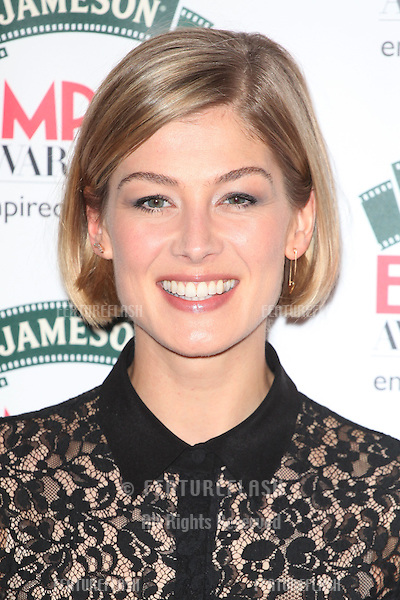 Rosamund Pike arriving for the 2014 Empire Film Awards, at the Grosvenor House Hotel, London. 30/03/2014 Picture by: Alexandra Glen / Featureflash