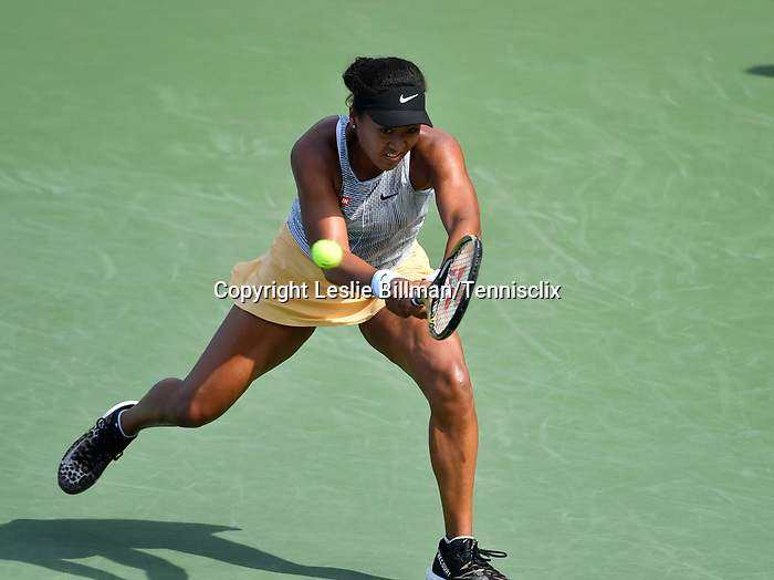 Naomi Osaka plays Sofia Kenin (USA)at the Western & Southern Open being played on August  16, 2019 at Lindner Family Tennis Center in Mason, Ohio.  ©Leslie Billman/Tennisclix