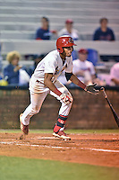 Johnson City Cardinals shortstop Oscar Mercado #4 swings at a pitch during a game against the Danville Braves at Howard Johnson Field September 4, 2014 in Johnson City, Tennessee. The Braves defeated the Cardinals 6-1. (Tony Farlow/Four Seam Images)