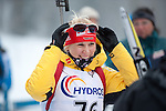 MARTELL-VAL MARTELLO, ITALY - FEBRUARY 02: HORCHLER Karolin (GER) after the Women 7.5 km Sprint at the IBU Cup Biathlon 6 on February 02, 2013 in Martell-Val Martello, Italy. (Photo by Dirk Markgraf)