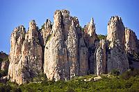France. Drome, Diois. Les Aiguilles d'Archiane in the Cirque d'Archiane. Rhone-Alpes.