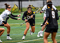 17 April 2021: UMBC Retriever Midfielder Attacker Olivia Docal, a Senior from Glenwood, MD, in action against the University of Vermont Catamounts at Virtue Field in Burlington, Vermont. The Catamounts fell to the Retrievers 11-8 in the America East Women's Lacrosse matchup. Mandatory Credit: Ed Wolfstein Photo *** RAW (NEF) Image File Available ***