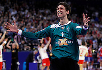 Niklas Landin Jacobsen reacts during men`s EHF EURO 2012 handball championship final game between Serbia and Denmark in Belgrade, Serbia, Sunday, January 29, 2011.  (photo: Pedja Milosavljevic / thepedja@gmail.com / +381641260959)