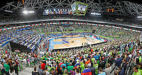 Stozice arena, general overview, total, European basketball championship Eurobasket 2013, round 2, group F basketball game between Slovenia and Italy in Stozice Arena in Ljubljana, Slovenia, on September 14. 2013. (credit: Pedja Milosavljevic  / thepedja@gmail.com / +381641260959)