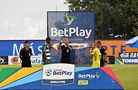 ITAGÜI - COLOMBIA, 25-02-2020: Leones F.C. y Valledupar F.C., en partido por la fecha 8 de la Torneo BetPlay DIMAYOR I 2020, jugado en el estadio Metropolitano de Itagüi. / Leones F.C. and Valledupar F.C. in match between Leones F.C. and Valledupar F.C., for the date 8 of the BetPlay DIMAYOR Tournament I 2020 played at the Metropolitano de Itagüi in Itagüi city.  Photo: VizzorImage / Luis Benavides / Cont