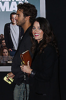 """HOLLYWOOD, CA - NOVEMBER 03: Actress Robin Tunney and her partner Nicky Marmet arrive at the Los Angeles Premiere Of DreamWorks Pictures' """"Delivery Man"""" held at the El Capitan Theatre on November 3, 2013 in Hollywood, California. (Photo by Xavier Collin/Celebrity Monitor)"""