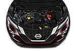 Car Stock 2020 Nissan Juke 5 Door SUV Engine  high angle detail view