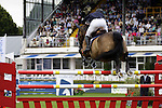 August 07, 2009: Alexander Zetterman of Sweden in action aboard Isaac. Meydan FEI Nations Cup. Failte Ireland Horse Show. The RDS, Dublin, Ireland.