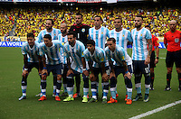 BARRANQUILLA  -COLOMBIA , 17 ,NOVIEMBRE-2015. Formacion de Argentina contra  Colombia   por la fecha 4 de las eliminatorias para el mundial de Rusia 2018 jugado en el estadio Metropolita Roberto Meléndez./ Formacion de Argentina contra Colombia   during   a match between Colombia and Argentina as part of FIFA 2018 World Cup Qualifier fourt date at Metropolitano Roberto Melendez Stadium on November 17, 2015 in Barranquilla, Colombia. Photo: VizzorImage / Felipe Caicedo / Staff