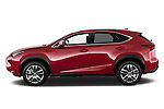 Car Driver side profile view of a 2015 Lexus NX NX 200t 5 Door SUV Side View