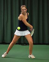 Rotterdam, The Netherlands, 07.03.2014. NOJK ,National Indoor Juniors Championships of 2014, Anne Schouten (NED)<br /> Photo:Tennisimages/Henk Koster