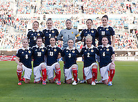 Scotland Starting XI.  The USWNT defeated Scotland, 4-1, during a friendly at EverBank Field in Jacksonville, Florida.