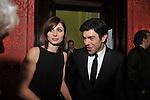 """ANNA FERZETTI E PIERFRANCESCO FAVINO<br /> PREMIERE """"BACIAMI ANCORA"""" DI GABRIELE MUCCINO  - RICEVIMENTO AL HOTEL MAJESTIC  ROMA 2010"""