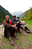 Bakarwal nomad men, Gangabal Lake region of Kashmiri Himalayas, India.