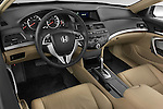High angle dashboard view of a 2008 Honda Accord Coupe
