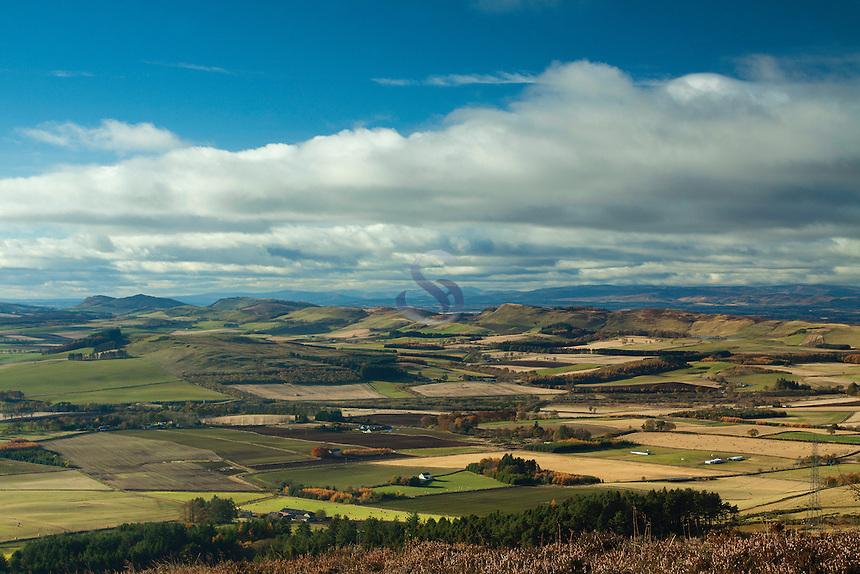 The Sidlaws from Auchterhouse Hill near Dundee, Tayside