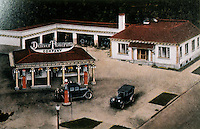 Filling Stations:  Powerine Station, Denver CO., c. 1923.  Demolished.  Photo '89.