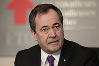 Montreal, CANADA - File Photo - <br /> Serge Cadieux,secretaire general de la FTQ