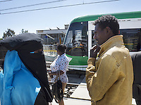 Ethiopia 2015. Tramway in Addis Ababa