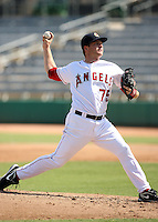 Ryan Brasier - Mesa Solar Sox - 2010 Arizona Fall League.Photo by:  Bill Mitchell/Four Seam Images..