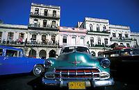 Cuba, Havana. Taxi stand