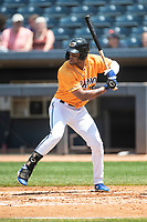 Akron RubberDucks outfielder Will Benson (29) at bat on June 27, 2021 against the Erie SeaWolves at Canal Park in Akron, Ohio. (Andrew Woolley/Four Seam Images)