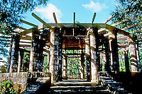 Philippines: Baguio--a wooden and stone pavilion. Photo '82.