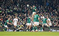 Saturday 2nd February 2019   Ireland vs England<br /> <br /> Peter O'Mahony during the opening Guinness 6 Nations clash between Ireland and England at the Aviva Stadium, Lansdowne Road, Dublin, Ireland.  Photo by John Dickson / DICKSONDIGITAL