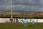 Holker Old Boys 2 Crook Town 1, 10/10/2020. Rakesmoor, FA Vase second round qualifying. Second-half action as Holker Old Boys (in green) take on Crook Town in an FA Vase second round qualifying tie at Rakesmoor, Barrow-in-Furness. The home club was established in 1936 as Holker Central Old Boys and was initially an under-16 team for former pupils of the Holker Central Secondary School. Holker from the North West Counties League beat their Northern League opponents 2-1, watched by a crowd of 147 spectators. Photo by Colin McPherson.