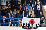 Rangers fans on Remembrance weekend