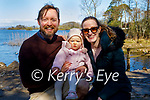 Enjoying a stroll at Ross Castle in Killarney on Saturday, l to r: Ryan, Saoirse and Julie Say.