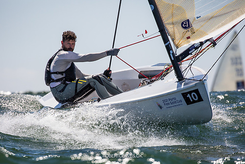 Oisin McClelland from Donaghadee competing for a Tokyo place at the Finn Gold Cup in Portugal