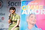 Singer Soraya Arnelas during the presentation of her new single 'Gimme tu love'. January 09 2020. (Alterphotos/Francis Gonzalez)